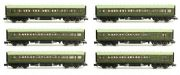Dapol 2P-012-252 Maunsell SR Lined Green 6 Coach Set